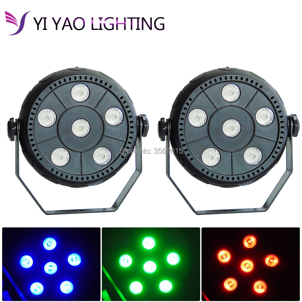 Ambitious 2pcs/lot Mini 6x6w Rgb 3in1 Wash Par Led With Excellent Pragrams Rgb Mixing Color Dj Lights Commercial Lighting