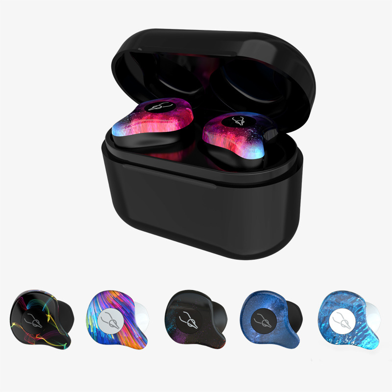 V5.0 Bluetooth Earphone Professional Twins Mini 3D Stereo Sound Invisible True Wireless Waterproof Sport Earbuds with Power bank