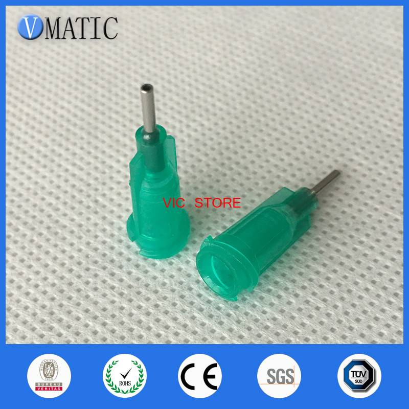 Free Shipping Quality 100Pcs/Lot 18G 1/4 Inch Stainless Steel Tip Dispensing Screw Needles Syringe Needle Tips