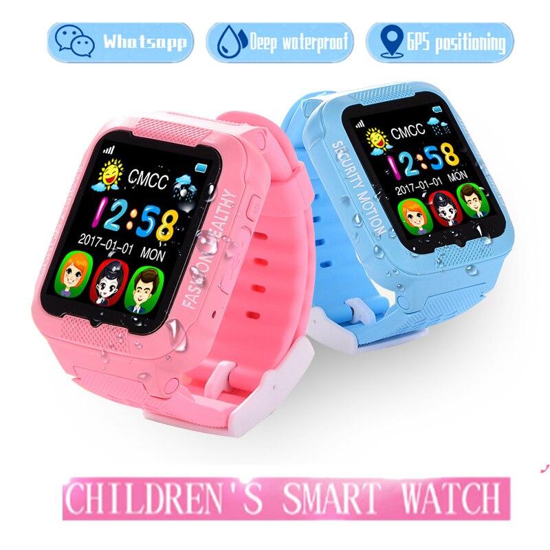imágenes para 2017 nuevos niños GPS reloj inteligente K3 con cámara 2.5D ¿ cuál es la aplicación de pantalla táctil a prueba de agua los niños GPS tracker SOS Ubicación Devicer