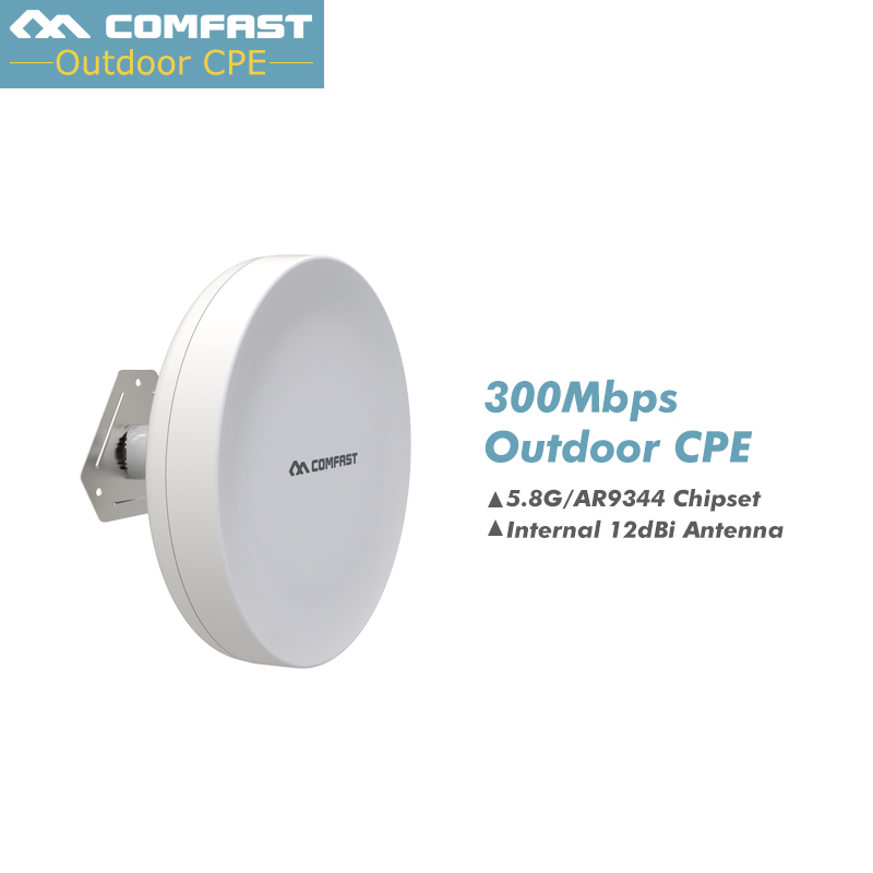 5.8Ghz Outdoor AP 2 extender amplifier COMFAST 300Mbps Nanostation CPE Access Point 11dBi WI-FI Antenna For Elevator monitoring