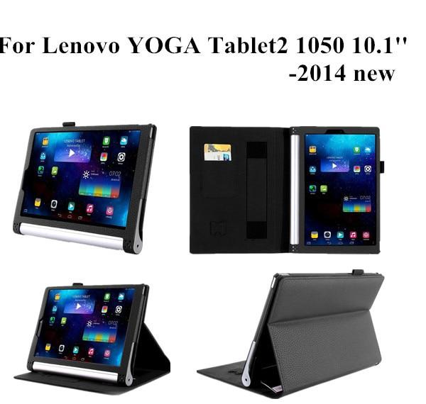 ①  Йога Tablet 2 10.1 Стенд кожаный чехол Lenovo Yoga Tablet 2 1050F кожаный чехол ★