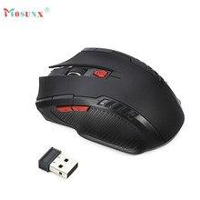 Горячие продажи MOSUNX 2 Цветов Подарки 2.4 ГГц Мини Портативный Беспроводная Оптическая Мышь + USB Приемник Для ПК Ноутбук
