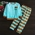 New autumn winter men sleepwear flannel couple Pyjamas long sleeve pajamas sets for men casual blue stripes soft pajamas