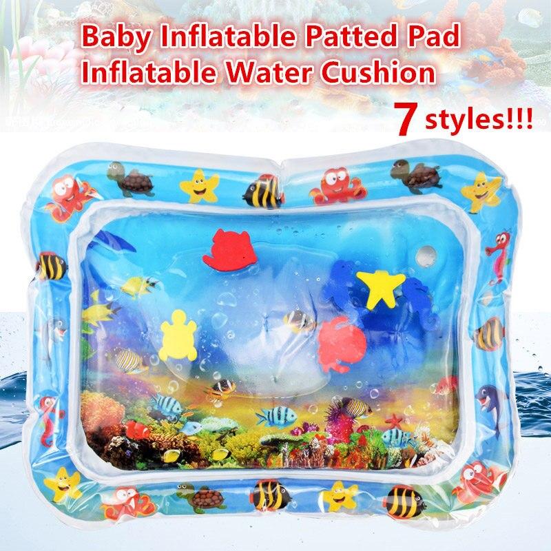 Inflável bebê Afagou Pad Criativo Almofada Rastejando Mat Água Atividade Divertida Inflável Da Água Do Bebê Pad