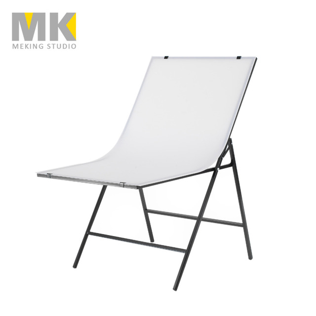 60*100cm Folding Portable Shooting Table Photo Tabletop For Product Shoot Screen+White PVC Backdrops Photography Camera Desk