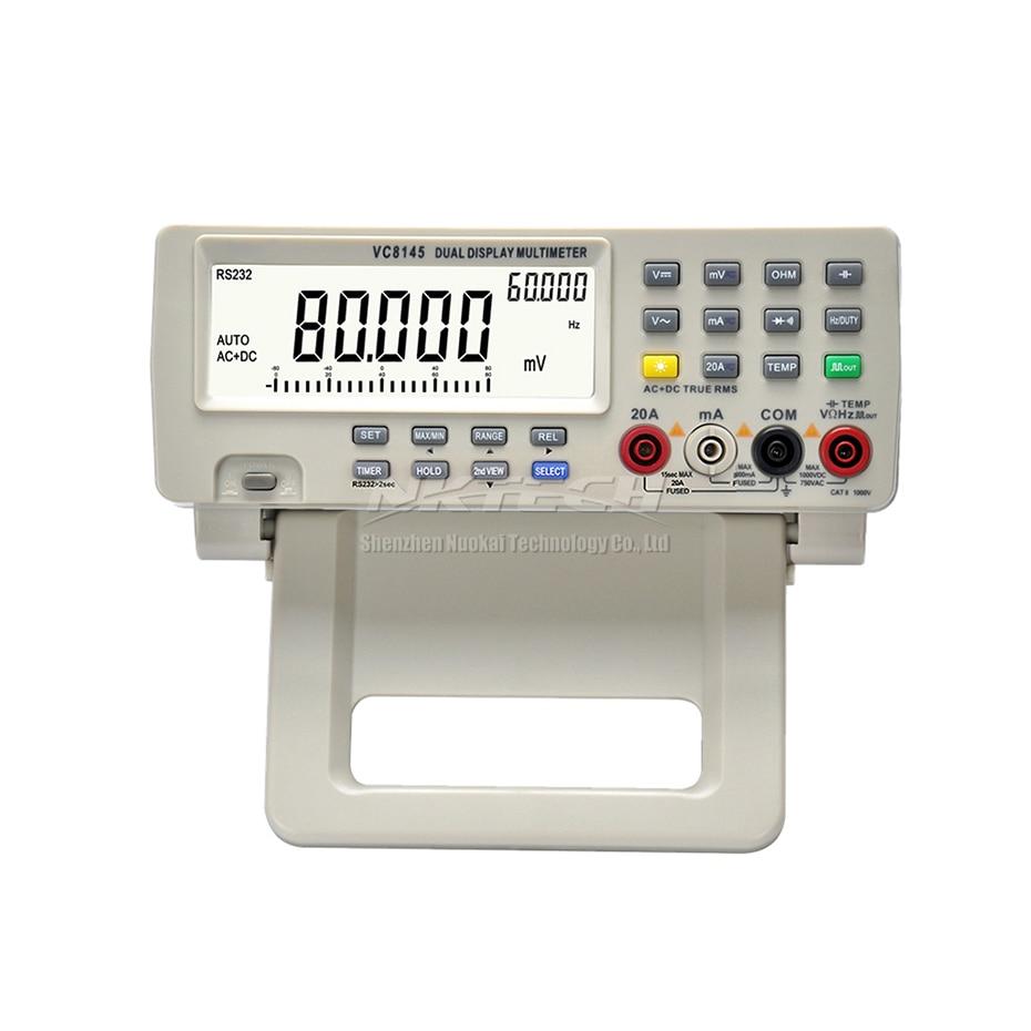 Top VC8045 4 Multimetro 7 Counts Ohmmeter Digital True VICI Voltmeter 8 Bench DMM Tester RMS Multimeter Auto 80000 Range VC8145