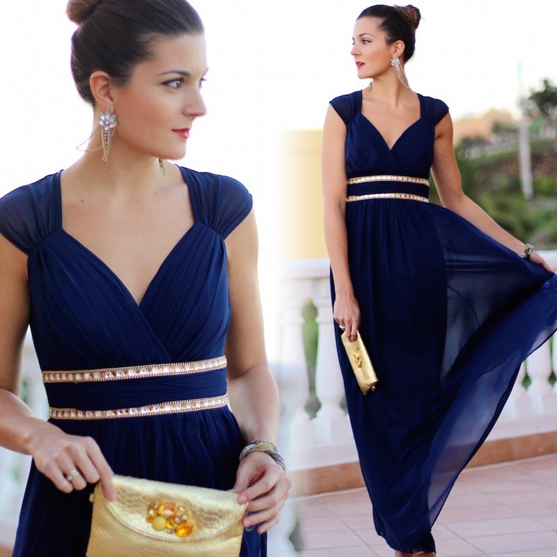 Image 5 - Plus Size Bridesmaid Dresses 2020 Elegant Cheap Chiffon Party Gowns Beading Empire Hollow Out Formal Party Dresses for WeddingBridesmaid Dresses   -