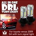 Guang Dian Car led Daytime Running luz DRL com luz de sinal luzes e Sinais de Volta luz Para venza 2009 3157 3457 T25