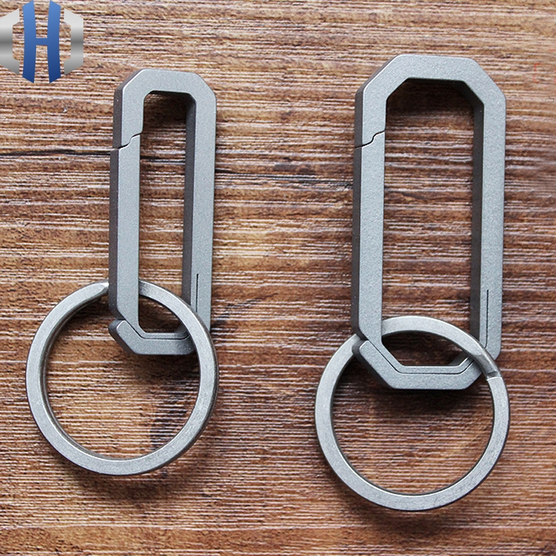 S/L Titanium Alloy Key Ring Hung Buckle Outdoor EDC Tool Keychain Pocket Titanium Buckle