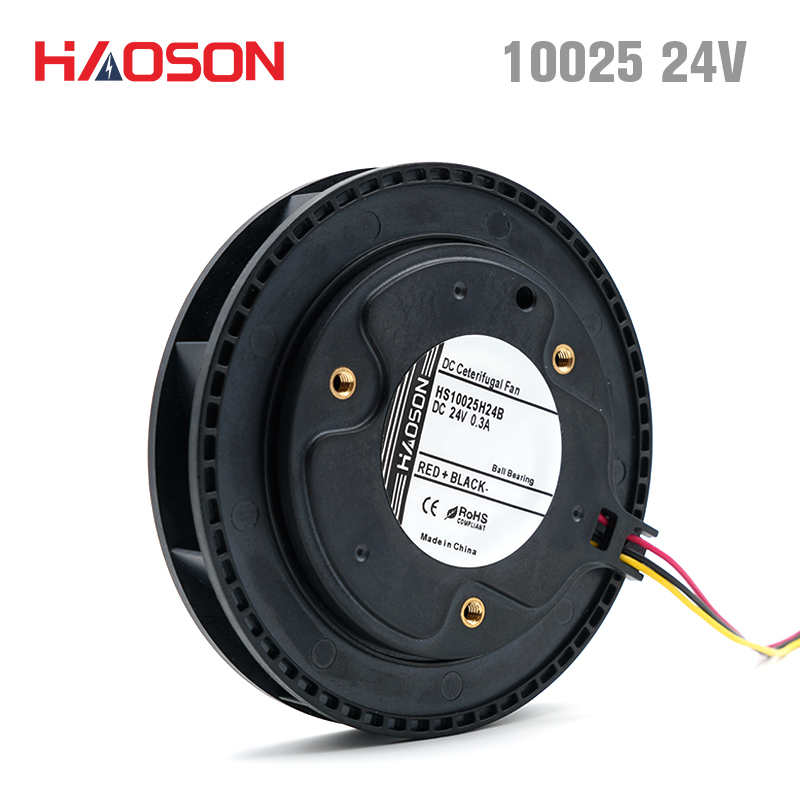 10025 DC 24V Air Blower,Centrifugal Fan,Brushless DC Motor,air Purifier,Overall Dimensions 100*25mm HS10025H24B