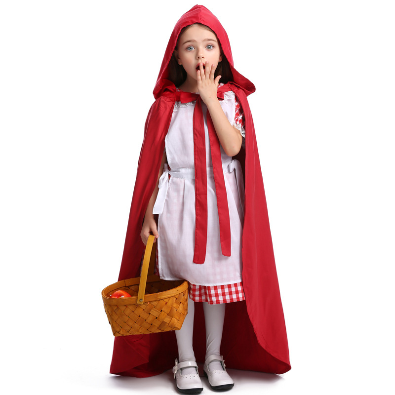 Hot Halloween Cute Little Red Riding Hood Costume Girl Party Fancy