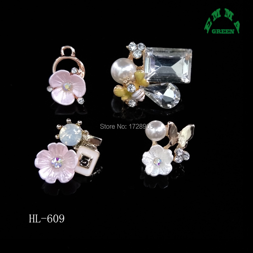5pcs Crystal Pearl Buttons Flatback Embellishment Jewelry Finding 25mm White