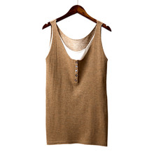 Tank top Art vintage cotton grace cozy slim vest Mixed colors new large size loose knit vest straps bottoming female summer