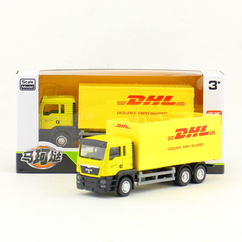 RMZ City/Diecast Toy Car Model/1:64 Scale/MAN DHL Container Delivery Truck/Vehicle Educational Collection/Gift For Children image