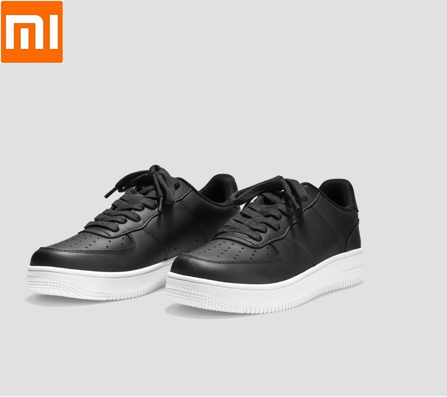 Xiaomi 90 FUN Casual Men's SkateboardingShoes Sport Outdoor Sneakers Cowhide Non-slip wear Thick bottom Flat shoes for man