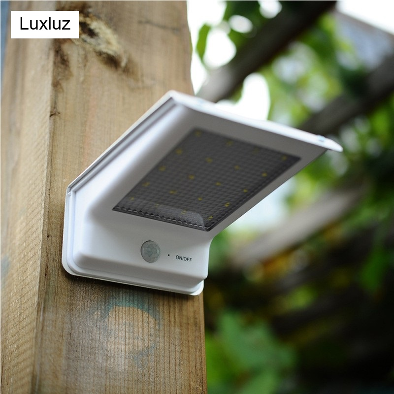 Solar Garden Landscape Lamp 20 LEDs Outdoor Waterproof PIR Sensor Wall Mount Path Night Light Porch