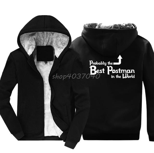 512fd78fd1 Probably The Best Postman In The World' Funny Postie Mailman Gift Idea  Hoodies Winter Jackets Hoody Keep Warm Sweatshirt