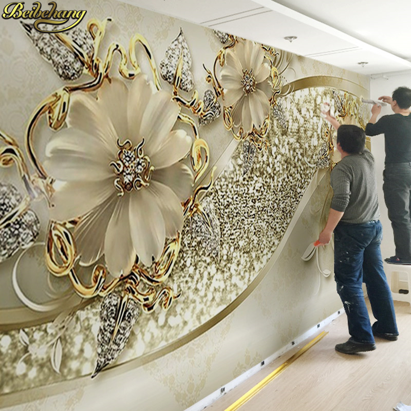 Papel de pared beibehang 3d stereo living room sofa TV Fondo papel de pared dormitorio no tejido papel de pared de murales grandes