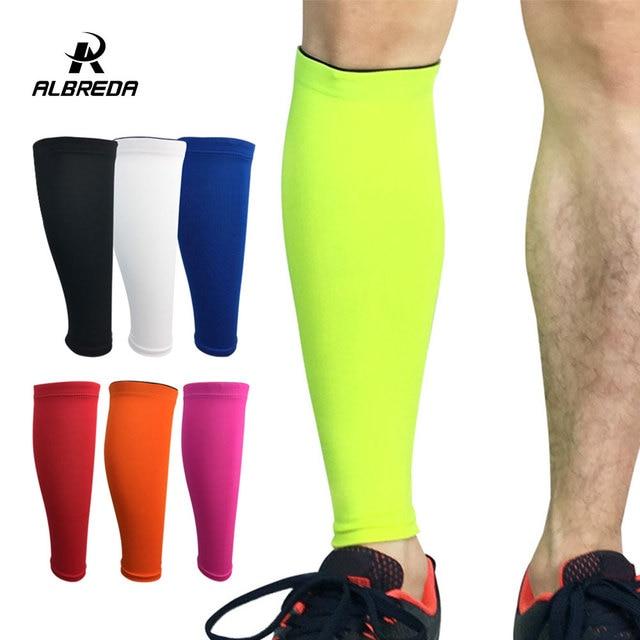 Albreda men & women camada base de compressão manga perna ciclismo aquecedores de perna correndo futebol basquete esportes bezerro apoio 7 cor 1