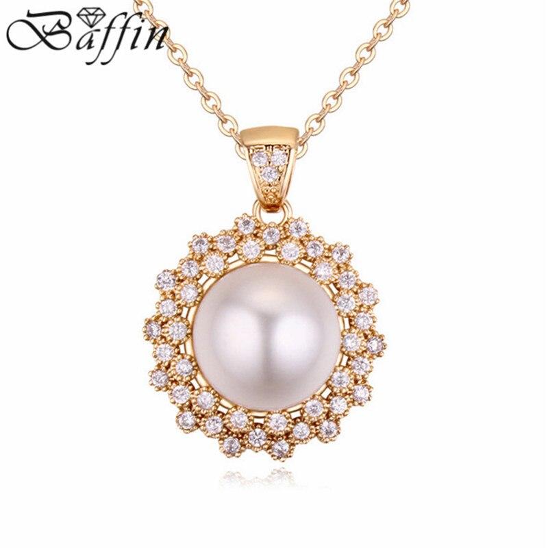 410c3cf7c1eb Nueva moda de agua dulce simulado perla collar hecho con elementos  austríacos AAA cubic zirconia Collar para las mujeres bijoux