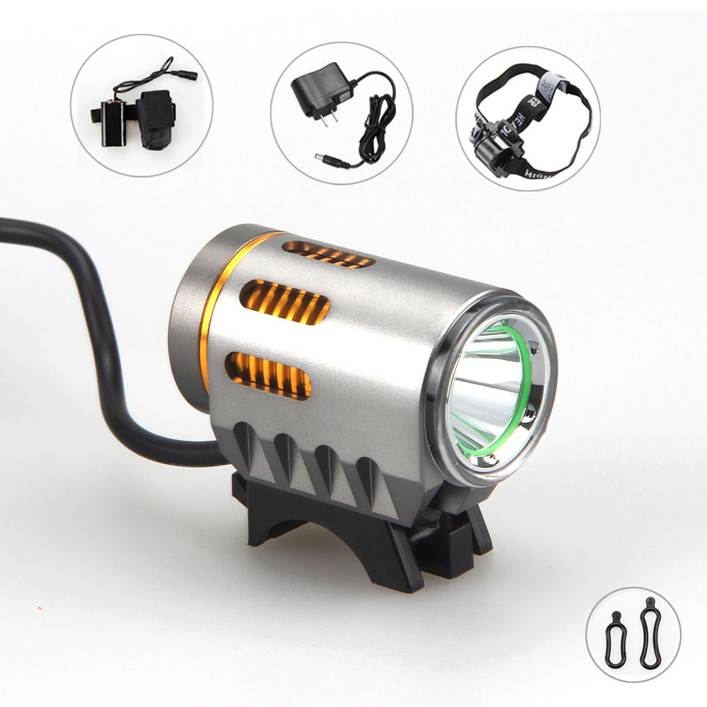 3000 люмен XM-L2 светодиодный голову перед велосипед свет фара + 6400 мАч Батарея Pack + повязка на голову + AC зарядное устройство