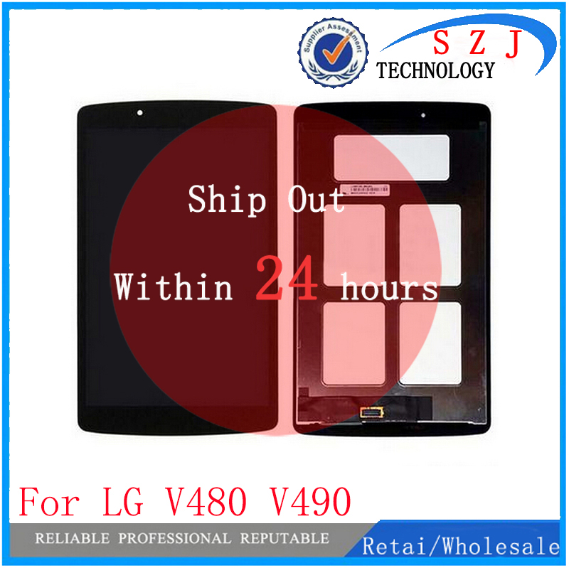 New 8 inch panel LCD combo For LG G Pad 8.0 V480 V490 Tablet LCD Display + Touch Screen Digitizer Assembly Combo Free Shipping new 8 inch case for lg g pad f 8 0 v480 v490 digitizer touch screen panel replacement parts tablet pc part free shipping