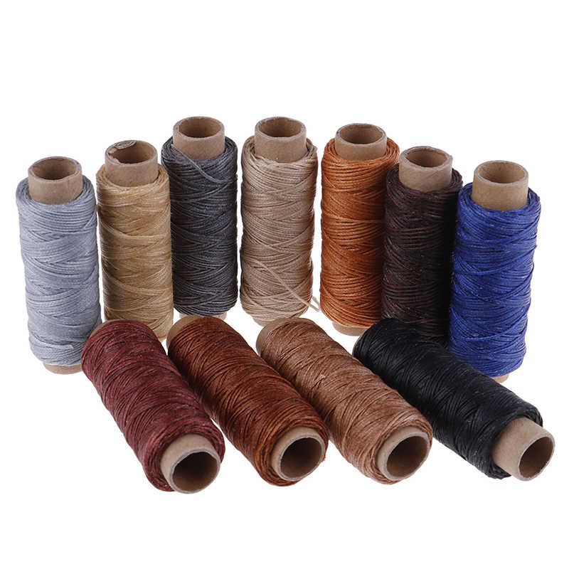 50m/Roll  Waxed Sewing Thread for Leather Shoe Hand Stitching For DIY Leather Sewing Thread Hand Stitching Crafts Tool