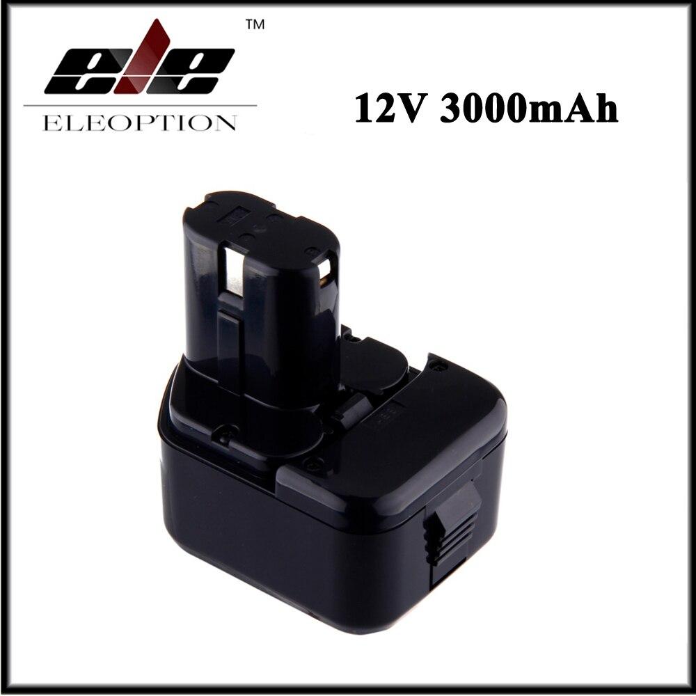 Tüketici Elektroniği'ten Yedek Piller'de Eleoption 12 V 3000 mAh Ni MH Yedek Güç Aracı Pil için Hitachi EB1212S EB1214L EB1214S DS 10DTA WH 12DAF
