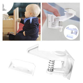 2pcs/set Children Safety Locks Baby Security Protection Safety Drawer Lock Invisible Cabinet Cupboard Latches Kids Security Lock фото