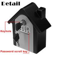 4 Digit Safe Keys Lock Storage Box Wall Mount Holder Combination Case Organizer