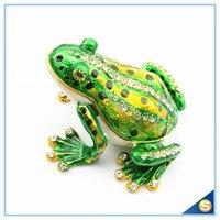 Wholesales Big Size Frog Trinket Box Home Decorative Storage Box Pewter Gift Box