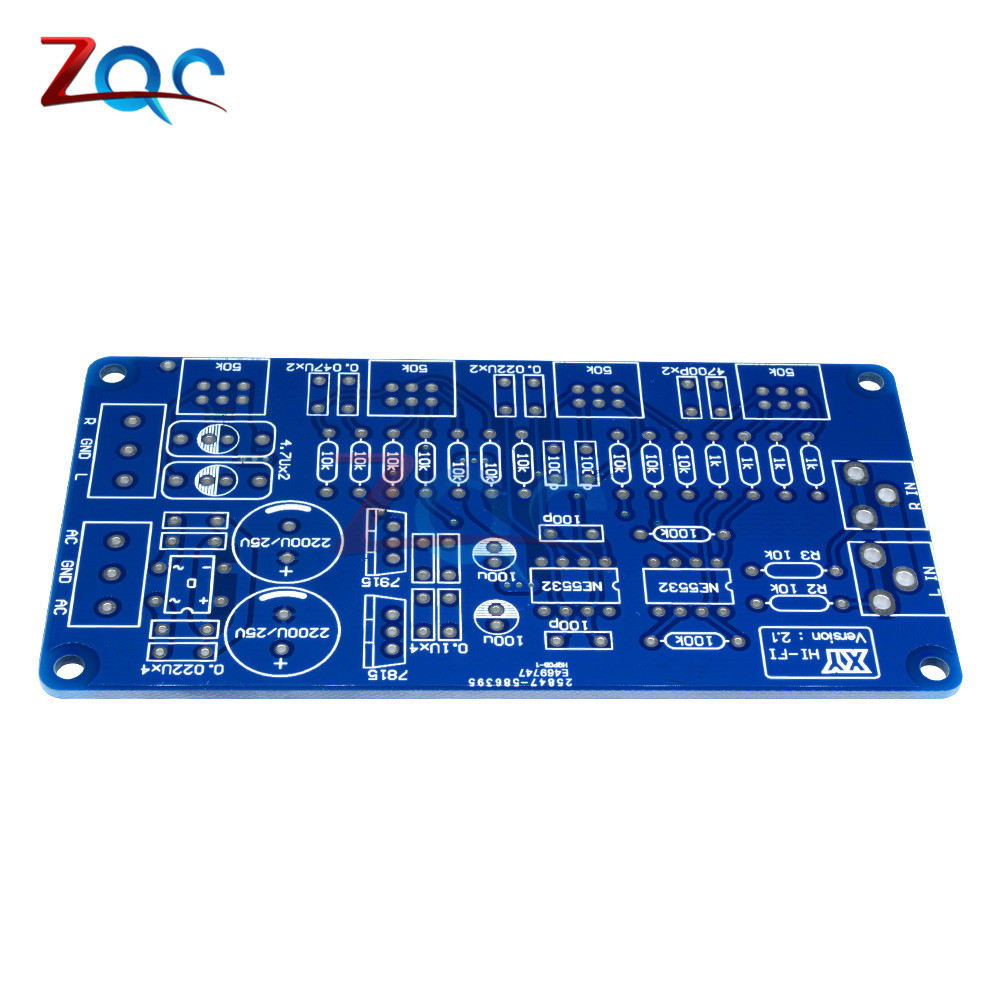 Image 4 - NE5532 Volume Control Audio Power Amplifier PCB Board / DIY Kit Electronic PCB Board Module-in Instrument Parts & Accessories from Tools