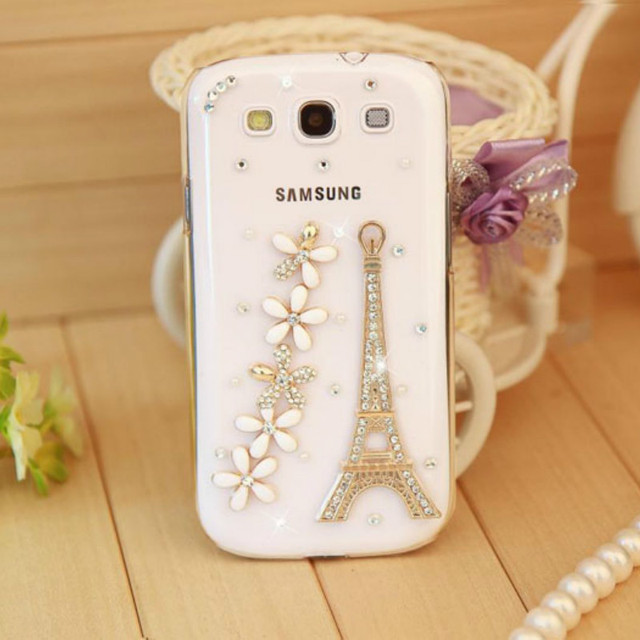 Bling Crystal Diamond Case for Samsung Galaxy s6 s7 edge S8 Note 5 A3 A5 A7 J5 J7 2017 Bling Paris Eiffel Tower and flowers