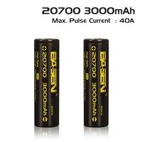2017 mới Basen BS207A 20700 3000 mAh 40A 80A 3.7 V li-ion lithium có thể sạc lại pin cho vape Điện Tử E-thuốc lá mod 1 cái