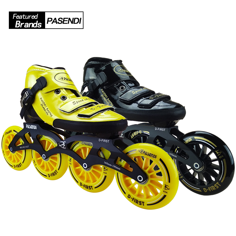 Patines Professional Glass Fiber Boots Inline Roller Skates Slalom Speed Skating Shoes Roller Skates 4 wheels Roller Patins reniaever double roller skates skating shoe gift girls black wheels roller shoe figure skates white free shipping