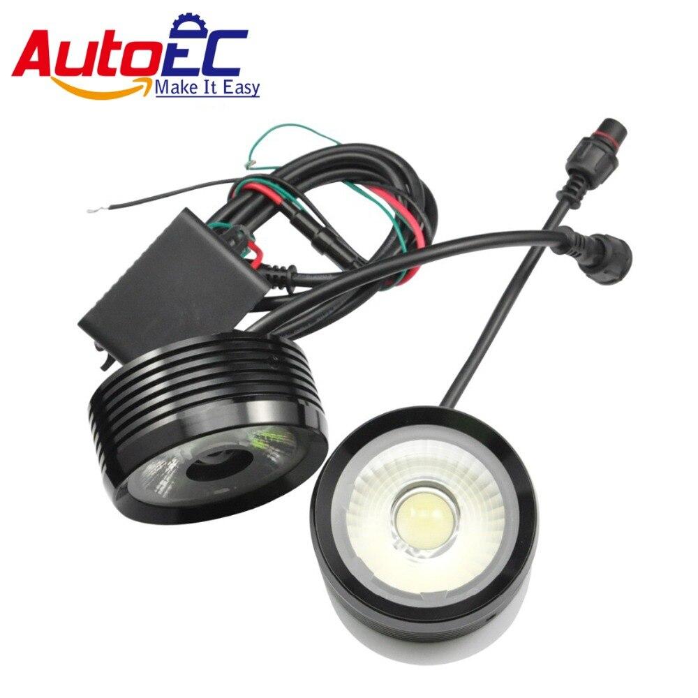 AutoEC Белый 2*10 Вт 20 Вт глаза Орла тумана автомобиля DRL дневные ходовые огни лампы винт для Mazda 6 2015 БМВ E46 глаза ангела #LM23