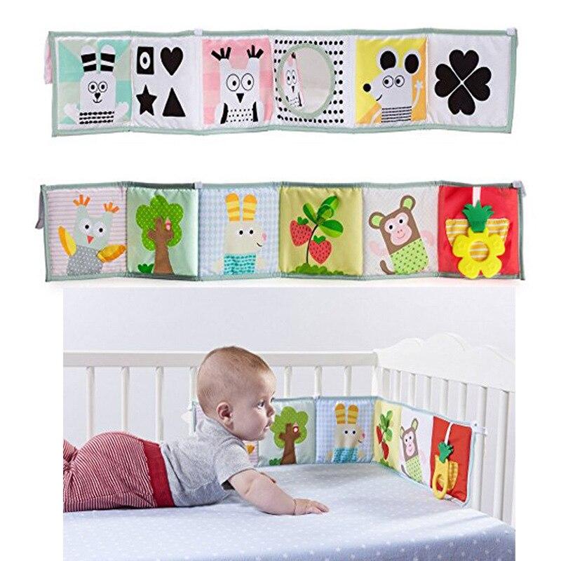 novo bebe brinquedos berco para choques newbron pano livro infantil chocalhos conhecimento em torno multi touch