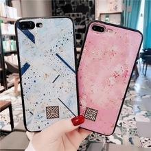 Samtsui Gold Foil Marble Bling TPU Soft Case For iPhone XR XMAX X Lotus Glitter Epoxy Cover 8 7 6 6S Plus Coque