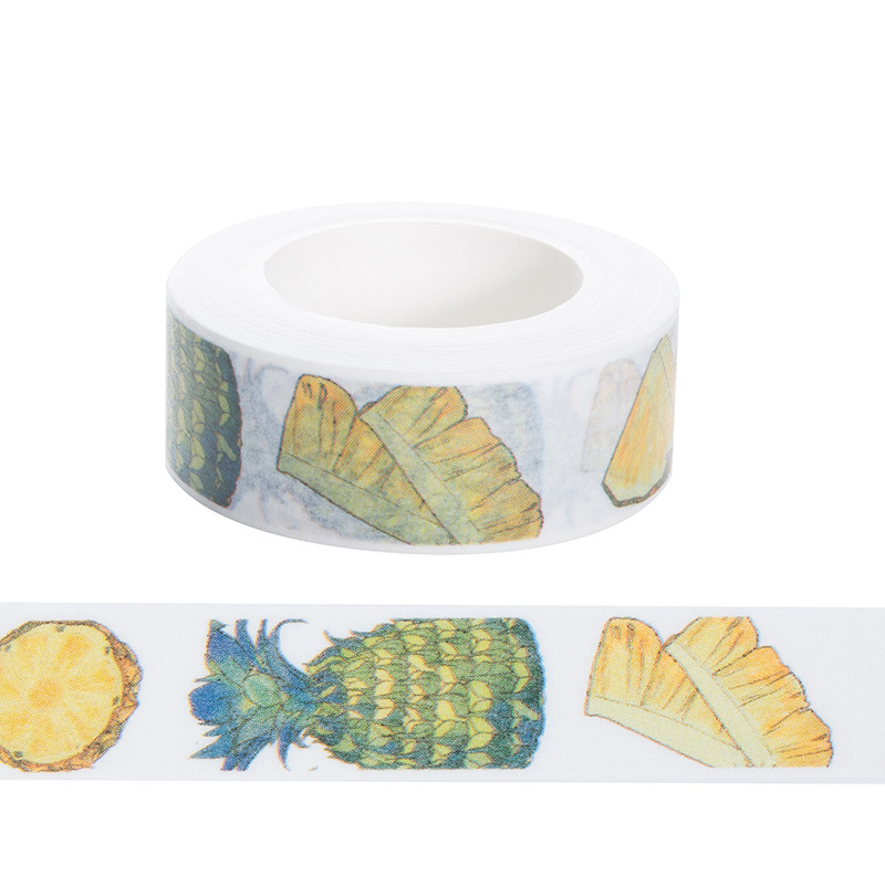 Fresh Fruits Washi Tape Set Wax Paper Tape, Pineapple,Flowers, Sushi, DIY gardener, Garden wedding, Japan Making Cards 27Pcs sushi mold diy