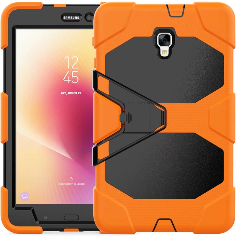 For Samsung Galaxy Tab A 8.0 2017 T380 T385 Case Kids Safe Armor Shockproof Heavy Duty Silicon +PC Stand Cover