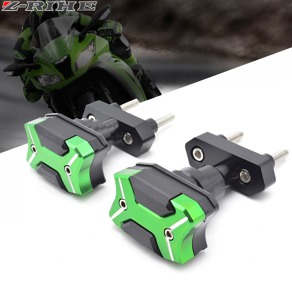 With Z800 Logo High Quality Motorcycle Frame Crash Pads Engine Case Sliders Protector Frame Slider For Kawasaki Z800 ZR800 with yzf logo motorbike frame slider motorcycle frame crash pads engine case sliders protector for yamaha yzf1000 r1 2015 2016