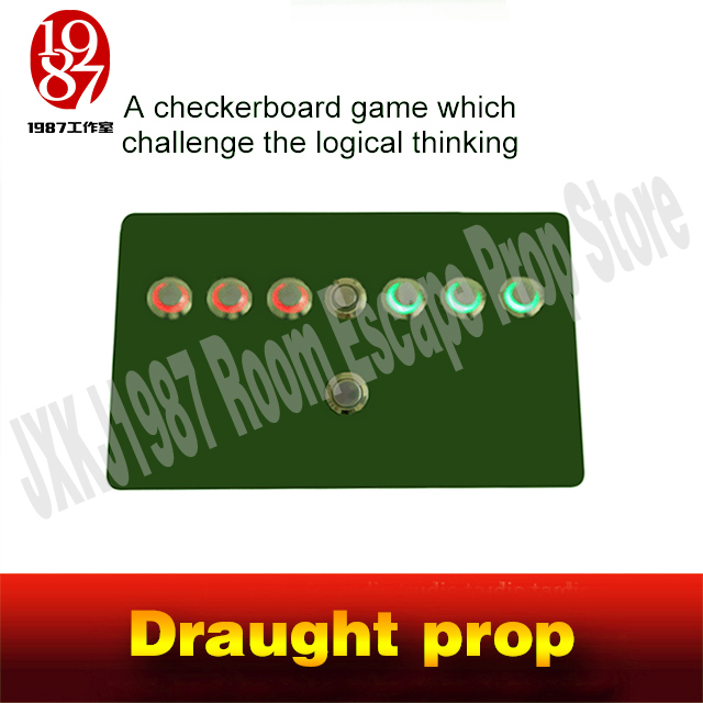 Draught prop real life room escape game prop jxkj1987TAKAGISMgame switch the button draught   jump the chessman  to open EM lock