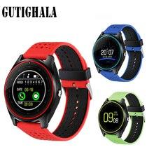 V9 Com Câmera do bluetooth Relógio Inteligente Smartwatch Pedômetro Saúde Esporte MP3 Relógio Smartwatch Para Android IOS melhor do que DZ09