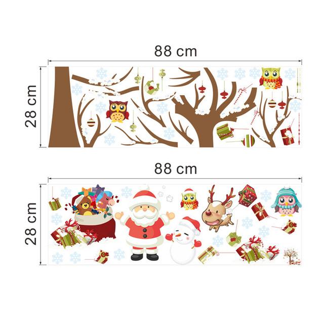 Christmas Santa Tree Wall Stickers