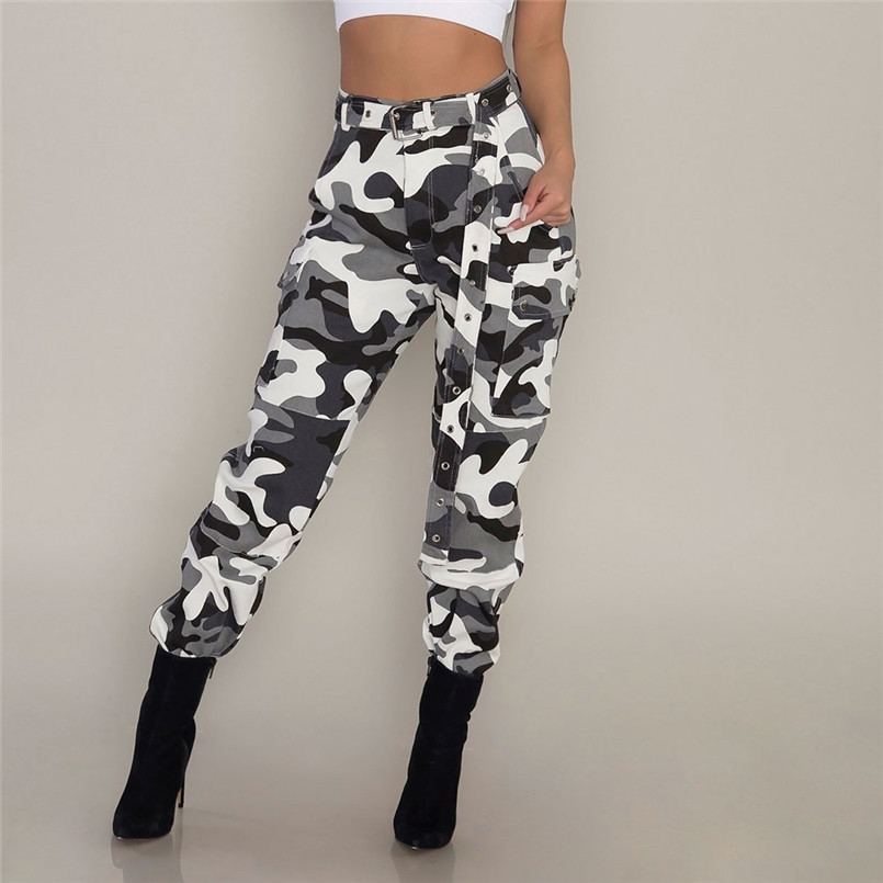 Fitness Women Army Style Legging Jogger Sexy High Waist Push-up Hip Pants Pocket Design Korean Cargo Pants Women Streetwear Bottoms