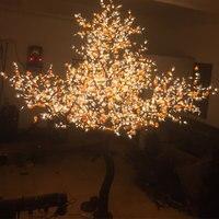 В 3 м 3808 шт. 110 в теплый белый Рождественский праздник светодио дный LED водостойкий искусственный фруктовый Декор дерево свет для дома наруве