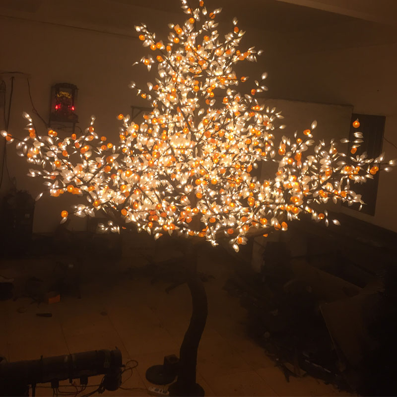 3Meters 3808pcs 110v warm white xmas holiday led waterproof artificial fruit decor tree light for home outdoor party wedding