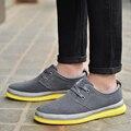 2015 Inglaterra zapatos de los hombres California Otoño Zapatos Genuinos del elevador de cuero zapatos casual Hombres zapatos de vestir zapatos oxford pisos Envío Gratis