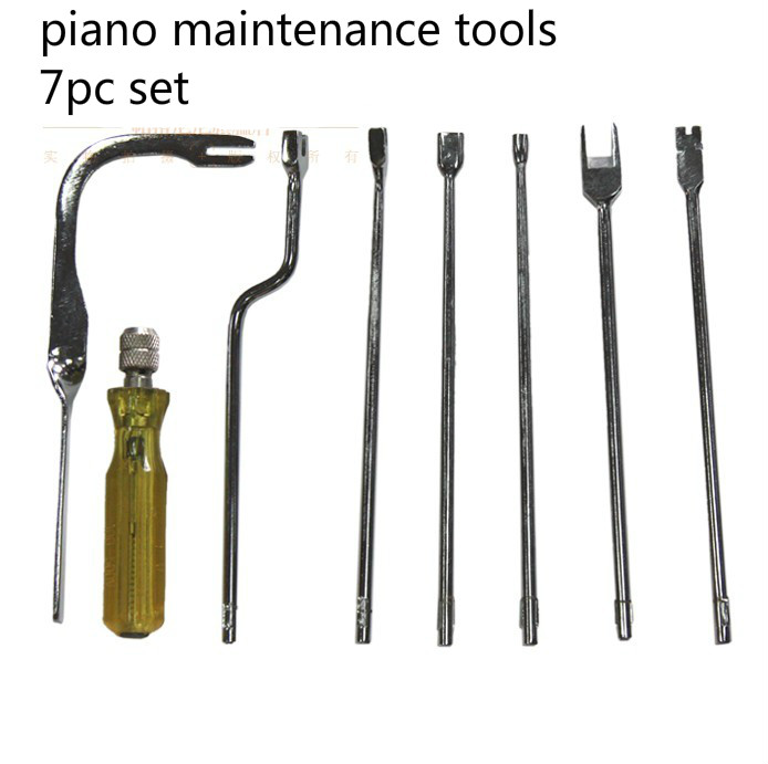 7pcs The piano maintenance tools  Repair Wrench Combination sound Head Over Cable  Piano Tuning Hammer Wool Mute Temperamen 6pcs professional piano tuning hammer wrench lever mute kit tools new e1xc